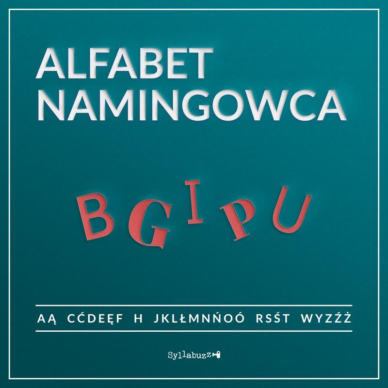 Alfabet namingowca B G I P U Badania nazwa, inspiracje, palindrom, urzęd patentowy