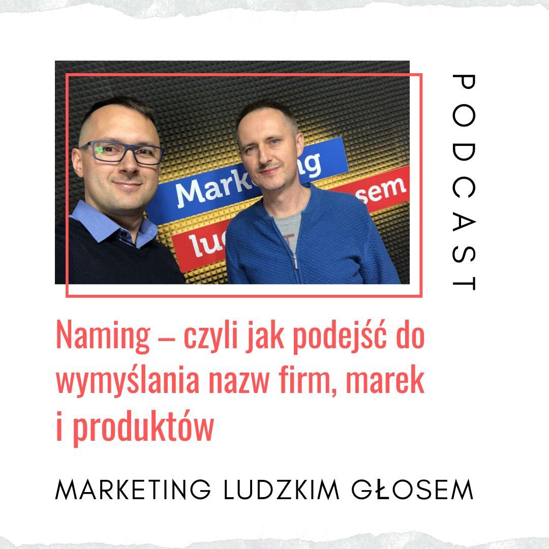 """""""Naming, czyli jak podejść do wymyślania nazw?"""" Rozmowa na dwa głosy z Łukaszem Wołkiem prowadzącym podcast Marketing Ludzkim Głosem"""